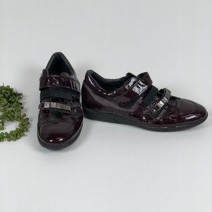 Lidia Patent Burgundy Sneakers 38